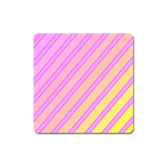 Pink and yellow elegant design Square Magnet by Valentinaart