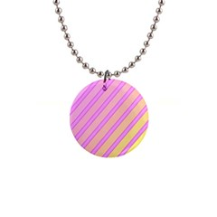 Pink And Yellow Elegant Design Button Necklaces by Valentinaart