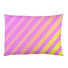 Pink And Yellow Elegant Design Pillow Case by Valentinaart