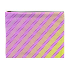 Pink And Yellow Elegant Design Cosmetic Bag (xl) by Valentinaart