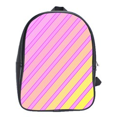Pink And Yellow Elegant Design School Bags(large)  by Valentinaart