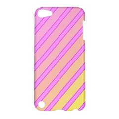 Pink And Yellow Elegant Design Apple Ipod Touch 5 Hardshell Case by Valentinaart