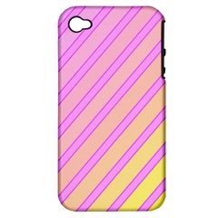 Pink and yellow elegant design Apple iPhone 4/4S Hardshell Case (PC+Silicone)