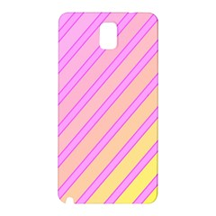 Pink And Yellow Elegant Design Samsung Galaxy Note 3 N9005 Hardshell Back Case by Valentinaart