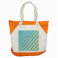 Blue Elegant Lines Accent Tote Bag by Valentinaart