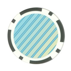 Blue Elegant Lines Poker Chip Card Guards (10 Pack)  by Valentinaart