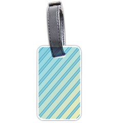 Blue Elegant Lines Luggage Tags (two Sides) by Valentinaart