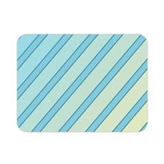 Blue elegant lines Double Sided Flano Blanket (Mini)
