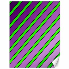 Purple And Green Lines Canvas 36  X 48   by Valentinaart