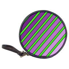 Purple And Green Lines Classic 20 Cd Wallets by Valentinaart