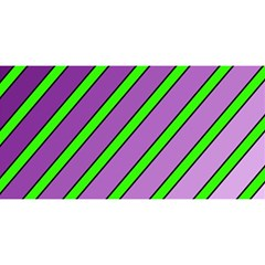 Purple And Green Lines You Are Invited 3d Greeting Card (8x4)  by Valentinaart