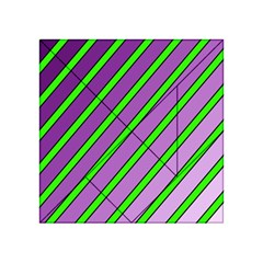 Purple And Green Lines Acrylic Tangram Puzzle (4  X 4 ) by Valentinaart