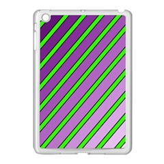Purple And Green Lines Apple Ipad Mini Case (white) by Valentinaart