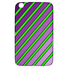 Purple And Green Lines Samsung Galaxy Tab 3 (8 ) T3100 Hardshell Case  by Valentinaart