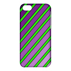 Purple And Green Lines Apple Iphone 5c Hardshell Case by Valentinaart