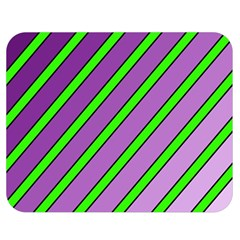 Purple and green lines Double Sided Flano Blanket (Medium)  by Valentinaart