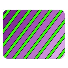 Purple And Green Lines Double Sided Flano Blanket (large)  by Valentinaart