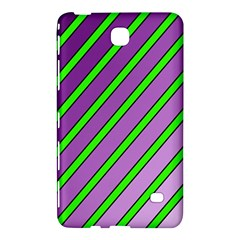 Purple And Green Lines Samsung Galaxy Tab 4 (7 ) Hardshell Case  by Valentinaart