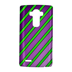 Purple And Green Lines Lg G4 Hardshell Case by Valentinaart