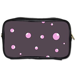 Pink Bubbles Toiletries Bags by Valentinaart