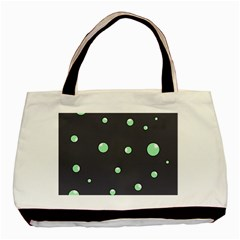 Green Bubbles Basic Tote Bag (two Sides) by Valentinaart