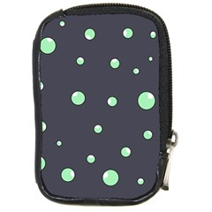 Green Bubbles Compact Camera Cases by Valentinaart