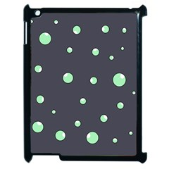 Green Bubbles Apple Ipad 2 Case (black) by Valentinaart