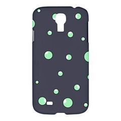Green Bubbles Samsung Galaxy S4 I9500/i9505 Hardshell Case by Valentinaart