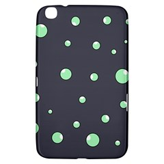 Green Bubbles Samsung Galaxy Tab 3 (8 ) T3100 Hardshell Case  by Valentinaart