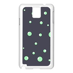 Green Bubbles Samsung Galaxy Note 3 N9005 Case (white) by Valentinaart
