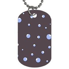 Blue Bubbles Dog Tag (two Sides) by Valentinaart