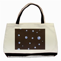Blue Bubbles Basic Tote Bag (two Sides) by Valentinaart