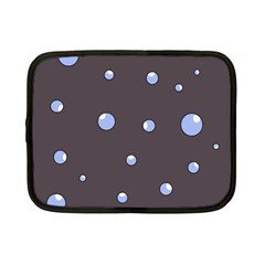 Blue Bubbles Netbook Case (small)  by Valentinaart