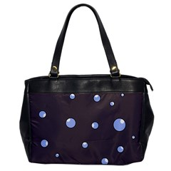 Blue Bubbles Office Handbags by Valentinaart