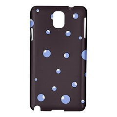 Blue Bubbles Samsung Galaxy Note 3 N9005 Hardshell Case by Valentinaart
