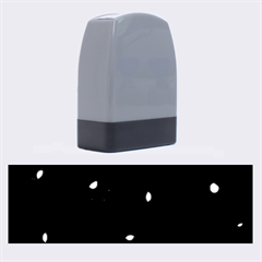 Gray bubbles Name Stamps