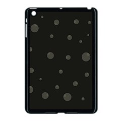Gray Bubbles Apple Ipad Mini Case (black) by Valentinaart