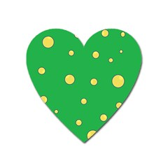 Yellow Bubbles Heart Magnet by Valentinaart