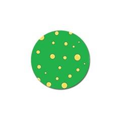 Yellow Bubbles Golf Ball Marker by Valentinaart