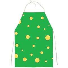 Yellow Bubbles Full Print Aprons by Valentinaart