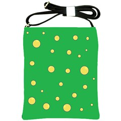 Yellow bubbles Shoulder Sling Bags