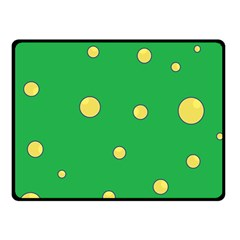 Yellow Bubbles Fleece Blanket (small) by Valentinaart