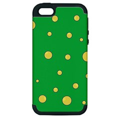 Yellow Bubbles Apple Iphone 5 Hardshell Case (pc+silicone) by Valentinaart