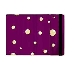 Purple And Yellow Bubbles Apple Ipad Mini Flip Case by Valentinaart