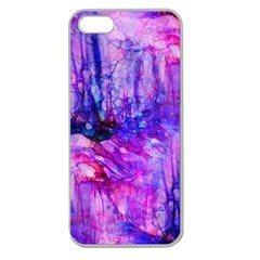 Purple Alcohol Ink Abstract Apple Seamless Iphone 5 Case (clear) by KirstenStar