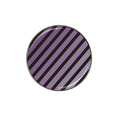 Purple Elegant Lines Hat Clip Ball Marker (4 Pack) by Valentinaart