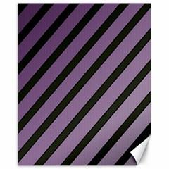 Purple Elegant Lines Canvas 16  X 20   by Valentinaart