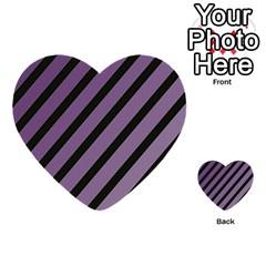 Purple Elegant Lines Multi Purpose Cards (heart)