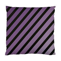 Purple Elegant Lines Standard Cushion Case (two Sides) by Valentinaart