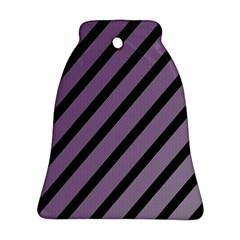 Purple Elegant Lines Ornament (bell)  by Valentinaart